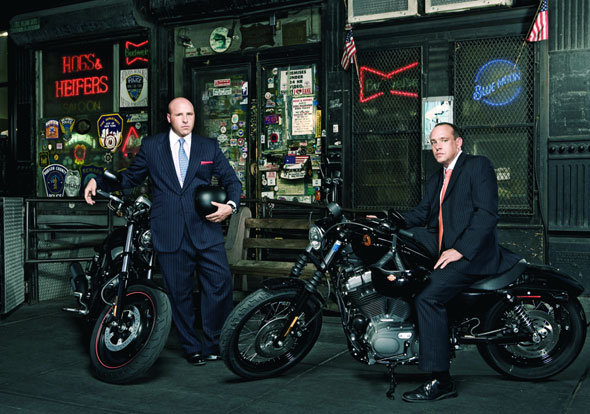 "Self-described ""rich urban bikers"" living the dream that is freedom. Photo cadged from the NY Post"
