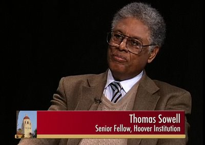 Dr. Thomas Sowell, who did not realize the sour candy was going to be this sour.