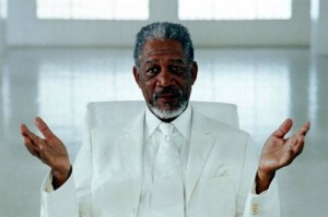 Morgan Freeman, midway through a long career explaining things to white people