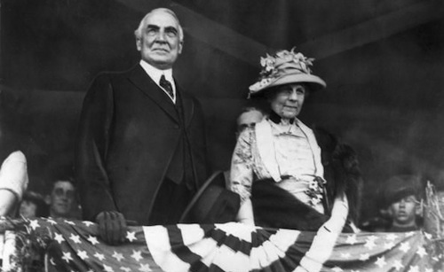 Warren G. Harding and some skank