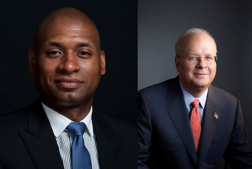 Charles Blow and Karl Rove: both bald, both shadowy, essentially the same name.