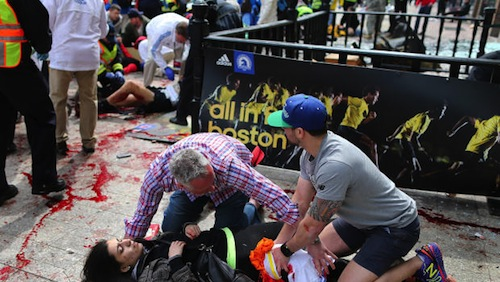 Two bombs exploded at the Boston Marathon yesterday.