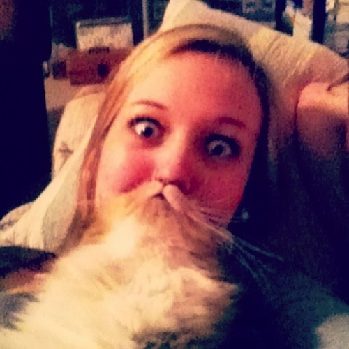 It's a cat. It appears to be a beard. Catbeard!