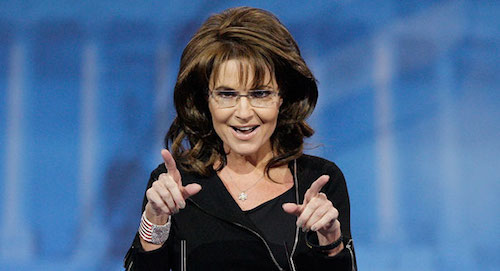 Sarah Palin is going home with one of you but has not yet decided whom.