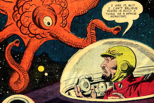 """Image from """"Secret of the Space Monster,"""" DC Comics 1958"""