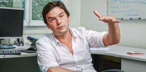 Economist Thomas Piketty wears a dress shirt in the French style.