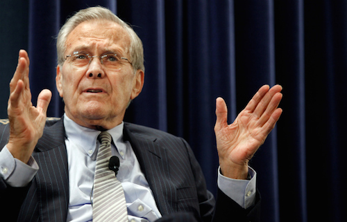 Former Secretary of Defense Donald Rumsfeld describes a fish that there is no evidence he did not catch.