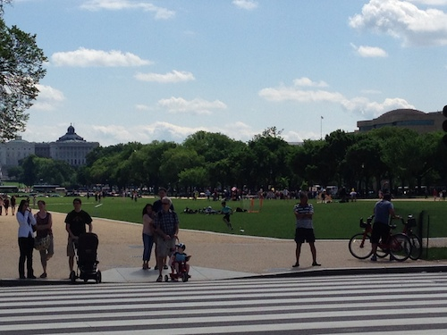 The National Mall, site of OAS, on Saturday courtesy of Jacek