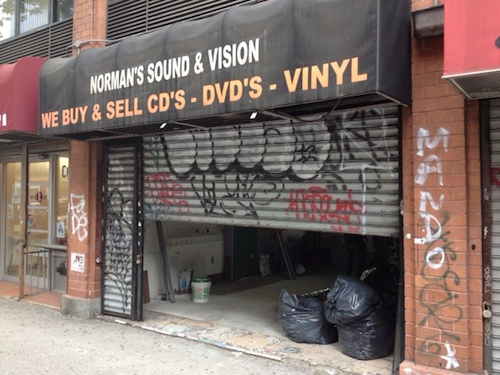 The Bowery this morning, making way