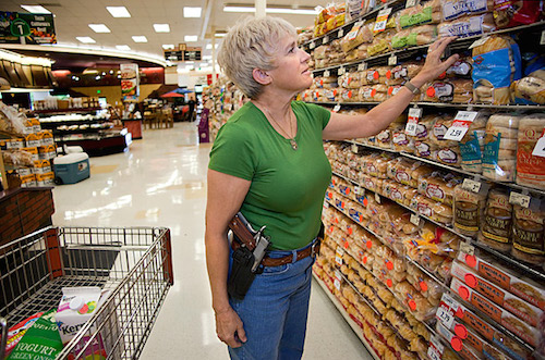 Prepared to exercise deadly force in the bread aisle