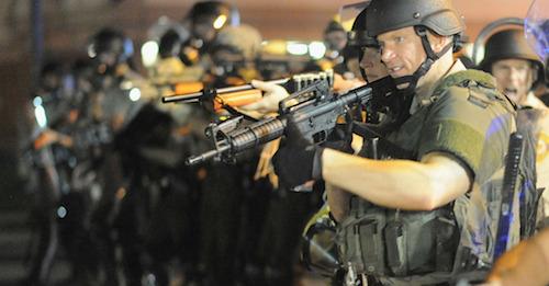 Local police serve the people of Ferguson, Missouri.