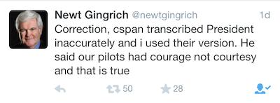 Tweet Gingrich
