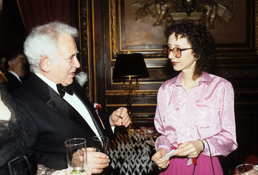 Norman Mailer and Joyce Carol Oates at the 1987 PEN dinner in New York City