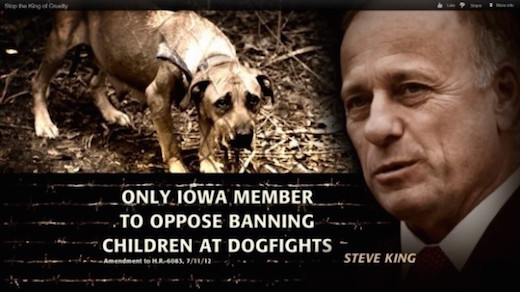 Still from another advertisement that may also mischaracterize Rep. Steve King (R–IA)