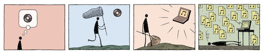 New York Times illustrator Tom Gauld's illustration for my essay that is totally in the New York Times