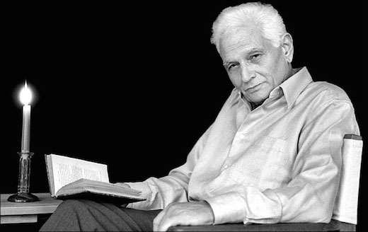 """Jacques Derrida, who is always like, """"Why aren't you reading a book?"""""""