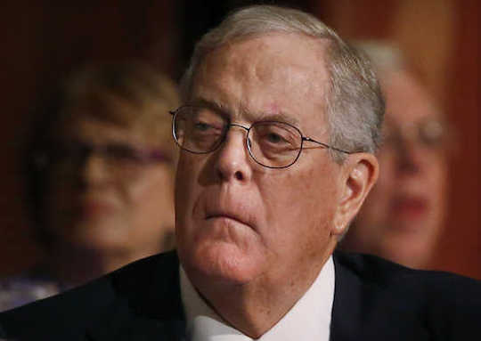 David Koch tries not to look rich.