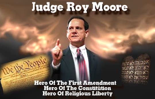 A possibly Photoshopped image of Alabama's Chief Justice Roy S. Moore
