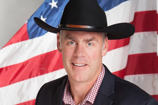 A candid photo of US Rep. Ryan Zinke (R–MT)