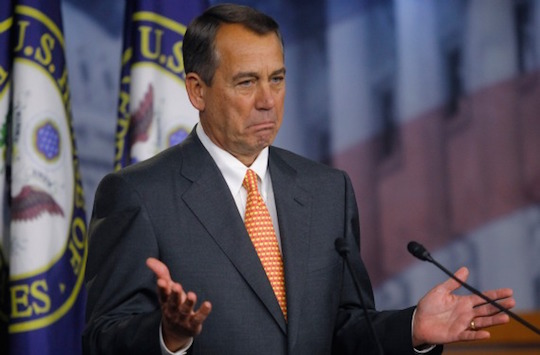 John Boehner had your electoral mandate, but n-words came over with 40s and blunts...