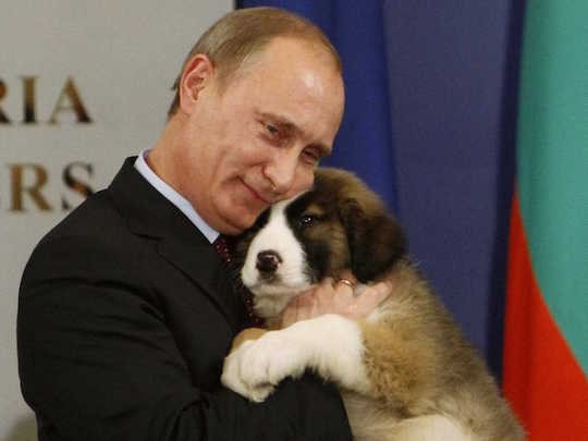 Vladimir Putin and a puppy that later betrayed him