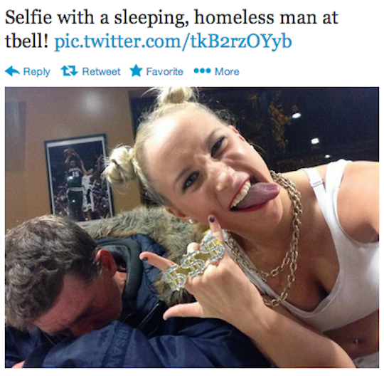 "From the Tumblr ""Selfies With Homeless People"""