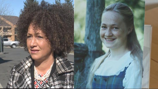 Spokane NAACP president Rachel Dolezal now and in the late 1990s, respectively