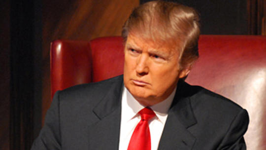 Donald Trump sees a squirrel.