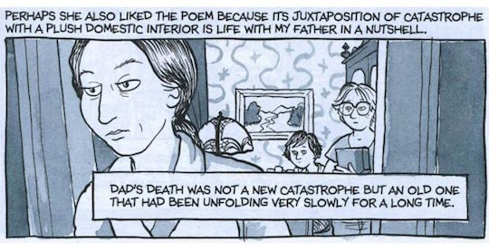A panel from Alison Bechdel's Fun Home