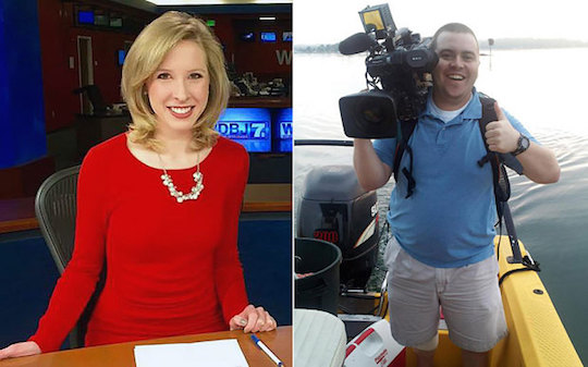 TV journalists Alison Parker and Adam Ward, who were shot this morning