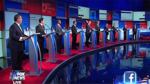Trump raises hand