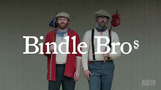 "The Bindle Brothers of Brooklyn, from their ""business company"" site"