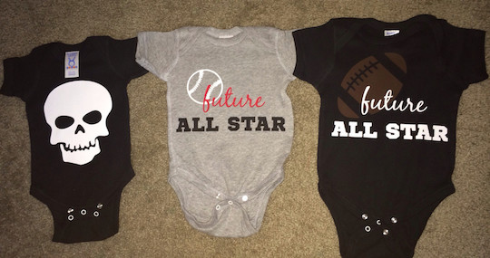 Three onesies you can buy for your three babies