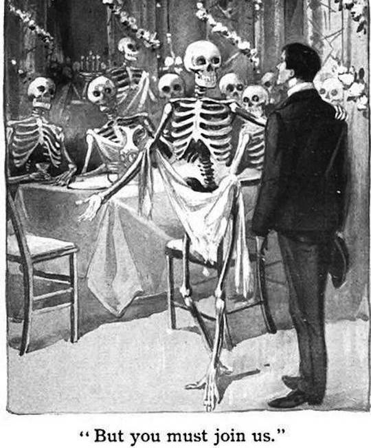 "Illustration from ""The Sociable Ghost"" by Ellen D'Apery, 1903"