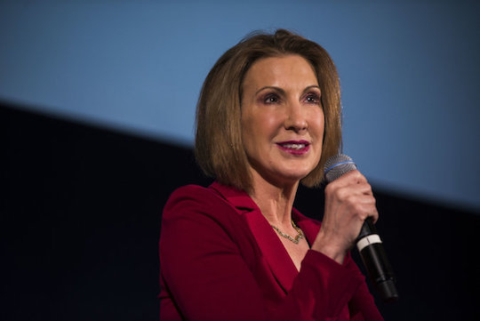 Carly Fiorina pauses to remember the truth.