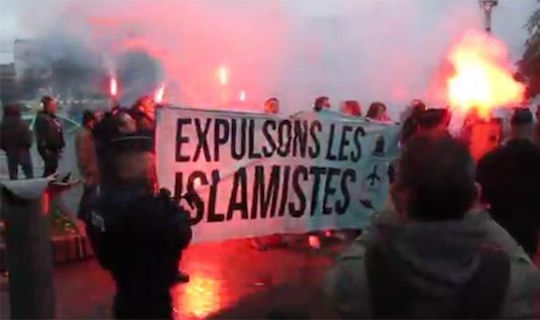 Anti-Muslim protests over the weekend in France