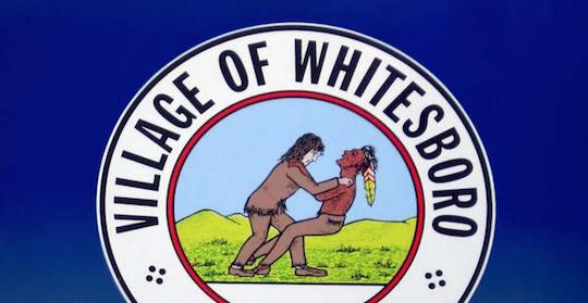 The official, controversial seal of the village of Whitesboro, NY