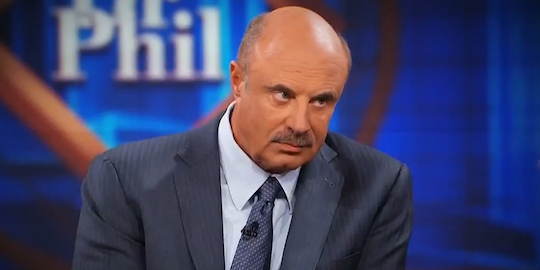 Televised advisor Dr. Phil, whose net worth is about half Greg Gianforte's