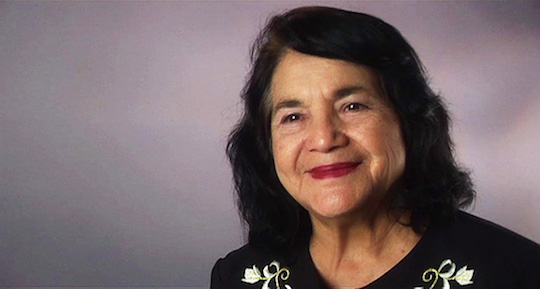 Lifelong civil rights activist and Hillary Clinton supporter Dolores Huerta