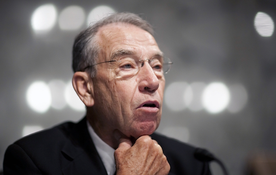 Senate Judiciary Committee Chairman Chuck Grassley (R-IA)—boss photo by Joshua Roberts