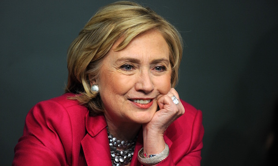 Anti-establishment candidate Hillary Clinton
