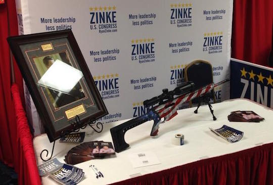 Commander Zinke's booth at the 2014 Montana GOP convention