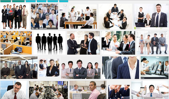 "Kombat! Kids: How many black men can you find in this image search for ""white collar employees?"""