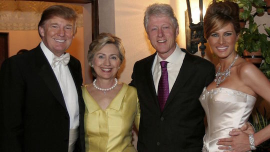 The 2016 presidential candidates and their spouses hang out at a wedding.