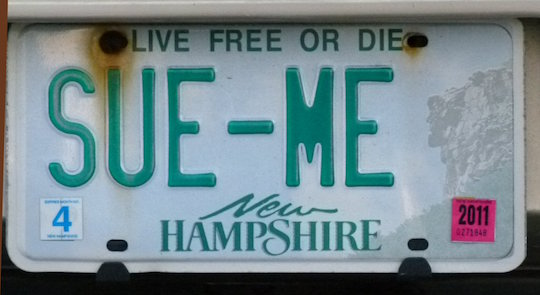 A potentially ill-advised vanity plate