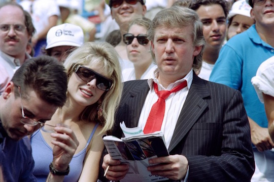 Donald Trump at Marla Maples at the US Open in 1991—photo: Timothy Clary