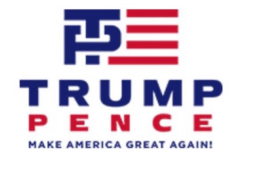 The official logo of the Trump-Pence campaign