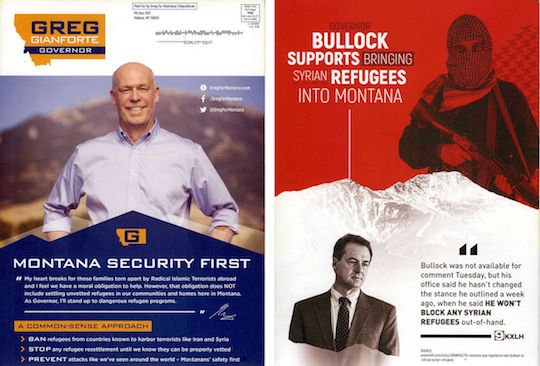The mailer Greg Gianforte, Republican for governor of Montana, sent last week