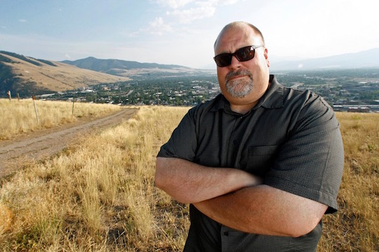 Missoula mayor John Engen atop Water Works Hill