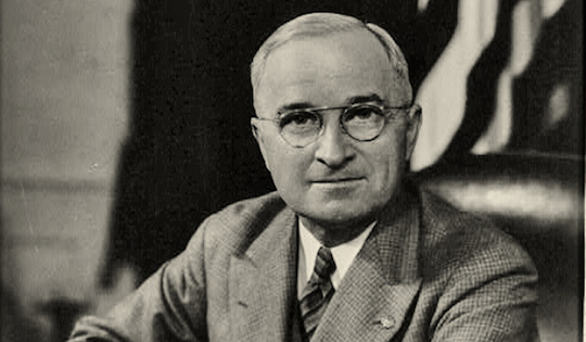 The first and last person to use nuclear weapons in war, Harry S. Truman